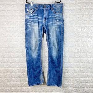 Big Star Voyager Straight Leg Thick Stitch Jeans
